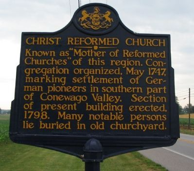 Christ Reformed Church Marker image. Click for full size.