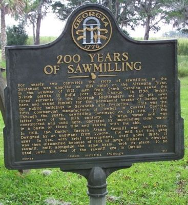 200 Years of Sawmilling Marker image. Click for full size.