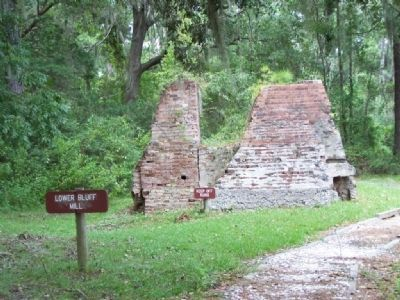 200 Years of Sawmilling , Lower Bluff Mill ruins image. Click for full size.