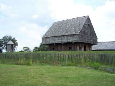 Blockhouse at Fort King George, made from planks milled here image. Click for full size.