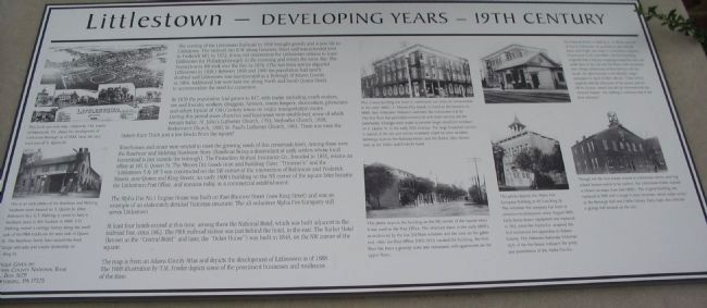 Littlestown Marker image. Click for full size.
