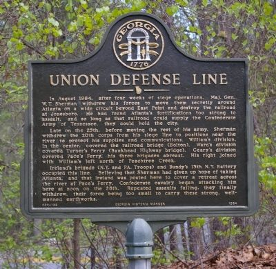 Union Defense Line Marker image. Click for full size.
