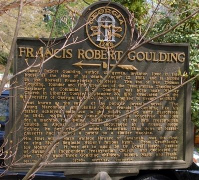Francis Robert Goulding Marker image. Click for full size.