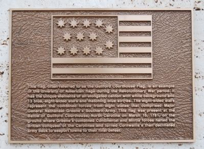 Guilford Courthouse Flag Marker image. Click for full size.
