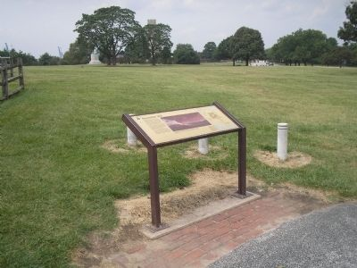 Marker in Fort McHenry National Monument image. Click for full size.