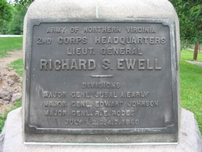Lieut. General Ewell Headquarters Monument image. Click for full size.
