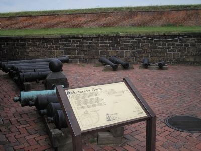 Marker in Fort McHenry image. Click for full size.