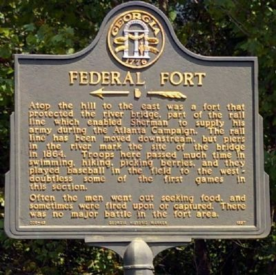 Federal Fort Marker image. Click for full size.