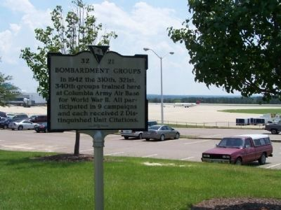 Bombardment Groups Marker at Columbia Metropolitan Airport image. Click for full size.