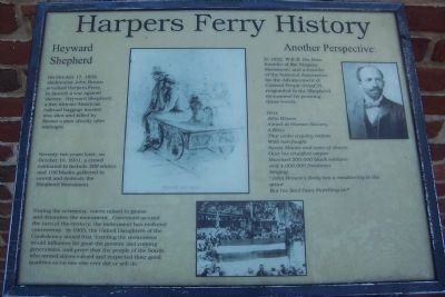 Harper's Ferry History: Hayward Shepard - Another Perspective Marker image. Click for full size.