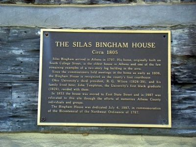 The Silas Bingham House Marker image. Click for full size.