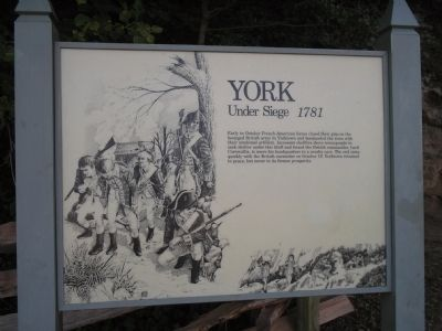 York Under Siege 1781 Marker image. Click for full size.