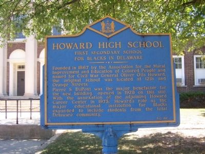 Howard High School Marker image. Click for full size.