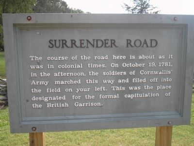 Surrender Road Marker image. Click for full size.