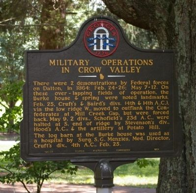 Military Operations in Crow Valley Marker image. Click for full size.