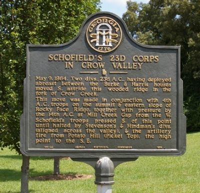 Schofield's 23d Corps in Crow Valley Marker image. Click for full size.