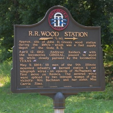 R.R. Wood Station Marker image. Click for full size.