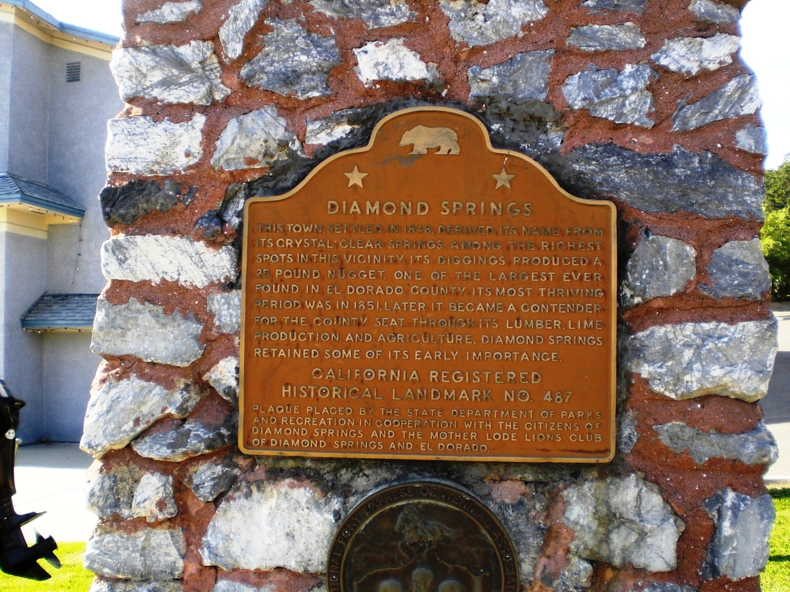 Diamond Springs Marker