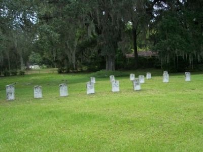 Old Fort King George British graves as mentioned on Marker image. Click for full size.
