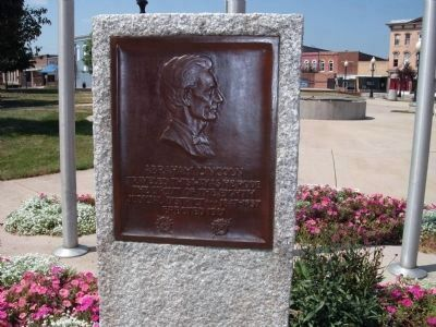 Abraham Lincoln - Eighth Judicial District Marker image. Click for full size.