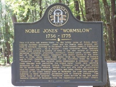 "Noble Jones' ""Wormslow"" Marker image. Click for full size."
