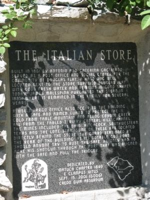 The Italian Store Marker image. Click for full size.