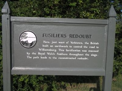 Fusiliers Redoubt Marker image. Click for full size.