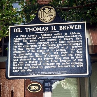 Dr. Thomas H. Brewer Marker image. Click for full size.