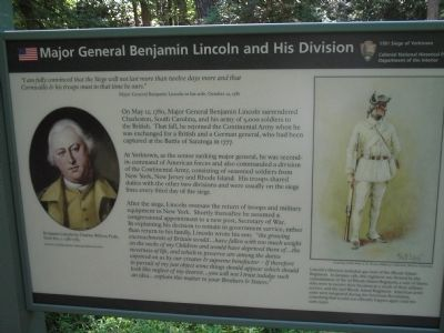 Major General Benjamin Lincoln and His Division Marker image. Click for full size.