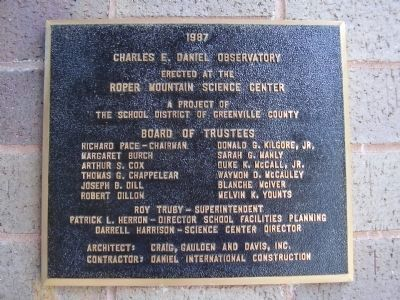 Charles E. Daniel Observatory image. Click for full size.