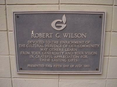 Robert G Wilson image. Click for full size.