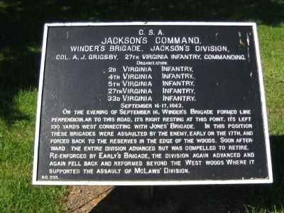 Winder's Brigade Tablet image. Click for full size.