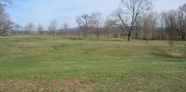 Stonewall Brigade's Position - Morning of the Battle image. Click for full size.