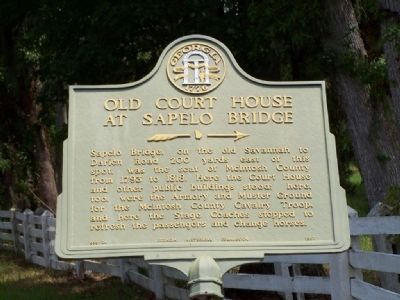 Old Court House at Sapelo Bridge Marker image. Click for full size.