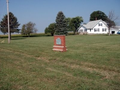 Site of The Village of Richmond Marker - - Wide View image. Click for full size.