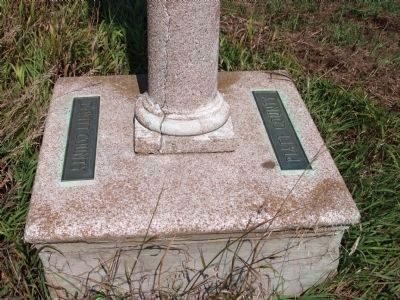 Base Plates on the Abraham Lincoln - Eighth Judicial District Marker image. Click for full size.
