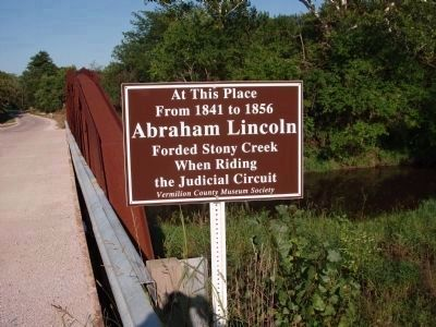 Abraham Lincoln Forded Stony Creek Marker image. Click for full size.
