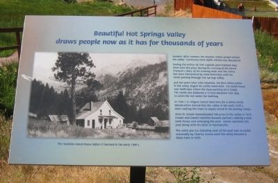 Beautiful Hot Springs Valley Marker image. Click for full size.