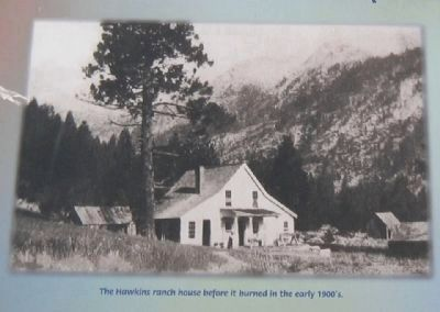 Close-up of Ranch House pictured on Marker image. Click for full size.