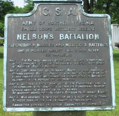 Nelson's Battalion Tablet image. Click for full size.