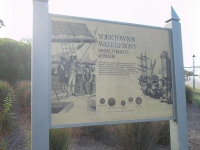 Yorktown's Waterfront Marker image. Click for full size.