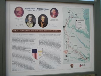 The Washington – Rochambeau Route to Victory Marker image. Click for full size.