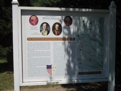 Route to Victory Marker at Mount Vernon image. Click for full size.
