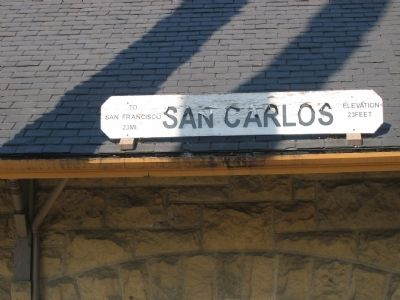 San Carlos Station Sign image. Click for full size.
