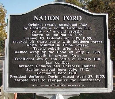 Nation Ford Marker image. Click for full size.