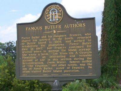 Famous Butler Authors Marker image. Click for full size.