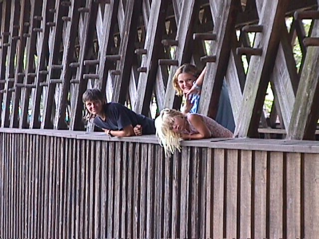 Covered Bridge with kids
