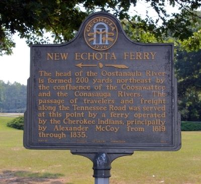 New Echota Ferry Marker image. Click for full size.