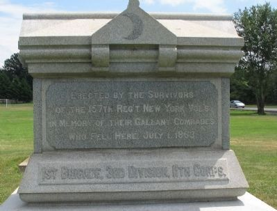 157th Regiment New York Volunteers Monument image. Click for full size.