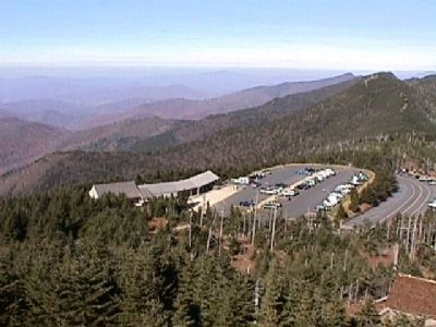 View of the parking area from the top of the observation tower. image. Click for full size.